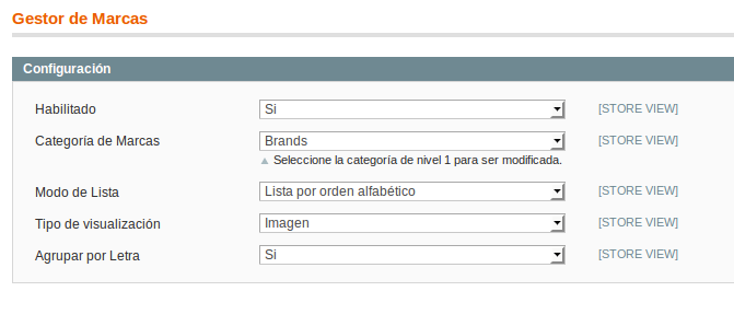 Configuración Dc_BrandManager