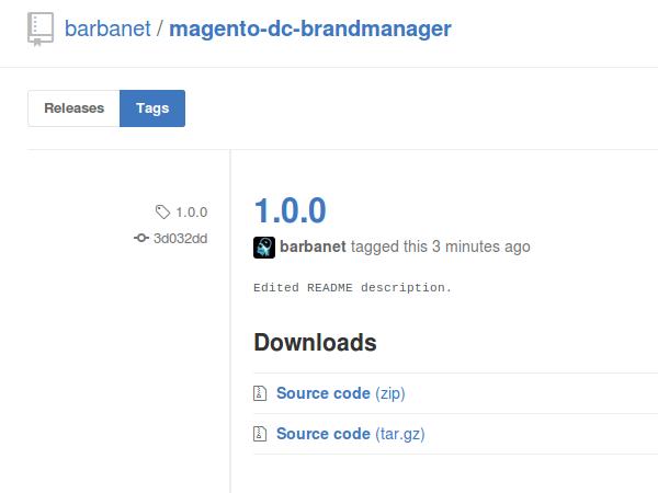 Versión 1.0.0 de Dc_BrandManager para Magento
