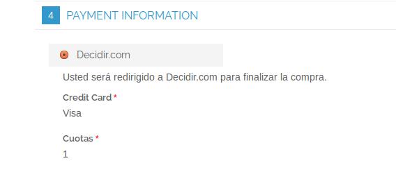 Checkout con Decidir.com en Magento