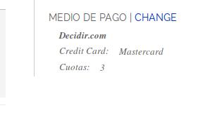 Resúmen método de pago en Checkout de Magento