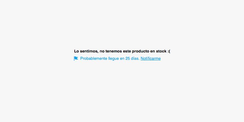 Notificación de stock