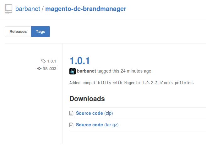 Dc_BrandManager 1.0.1 para Magento