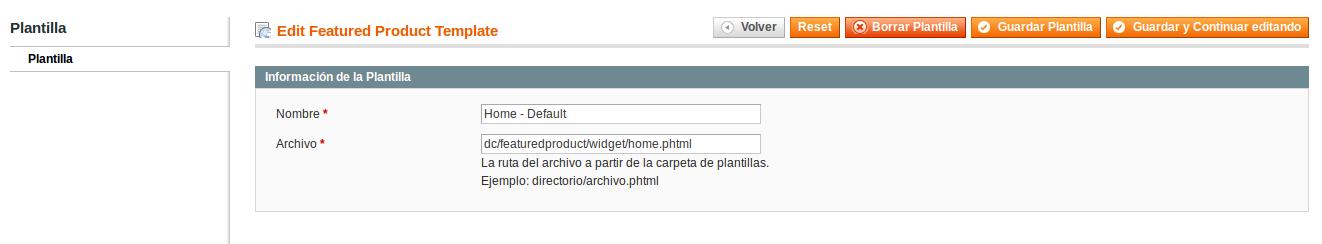 Plantillas para Dc_FeaturedProduct