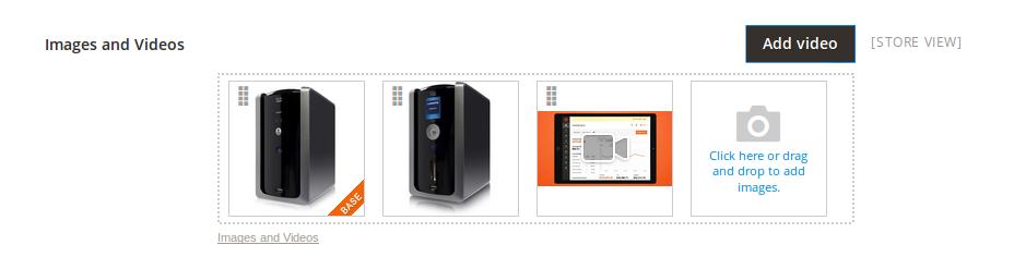 Galería de imágenes de un Producto en Magento2