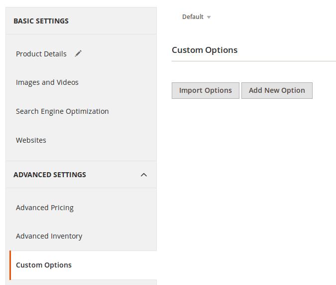 Opciones personalizadas de Productos en Magento2