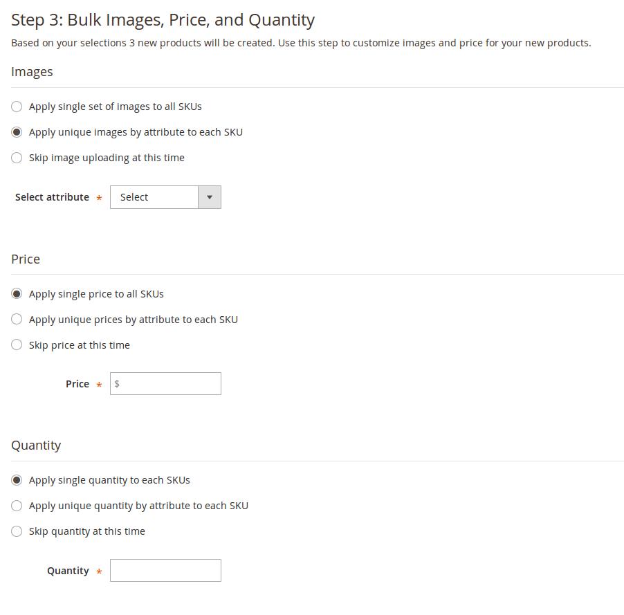 Creación de opciones para un atributo en Magento2