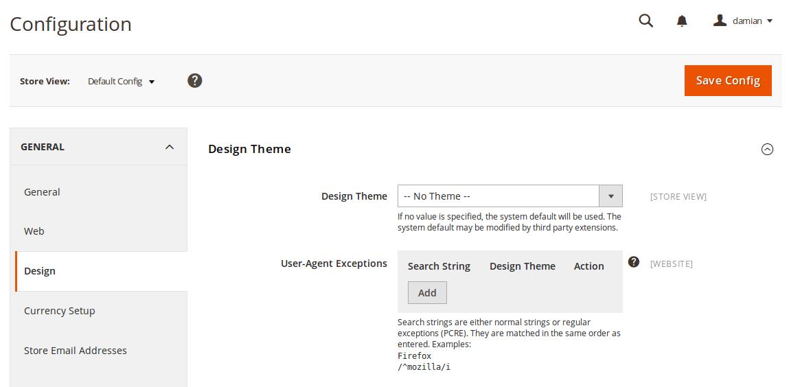 Configuración de themes en Magento2