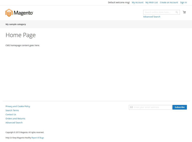 Homepage Magento2