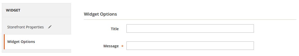 Configuración de Widget en Magento2