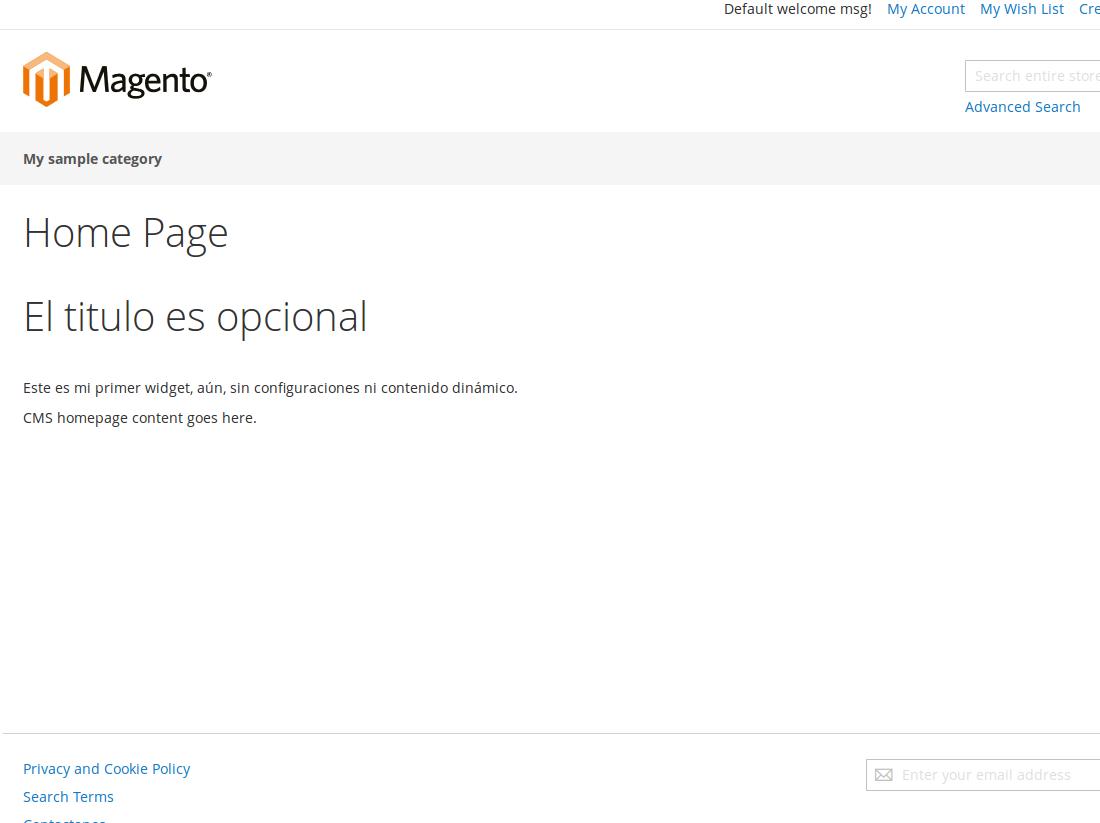 Widgets en Magento2