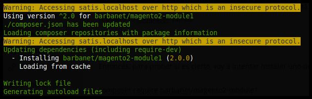 Instalación de módulo en Magento2 a través de Satis