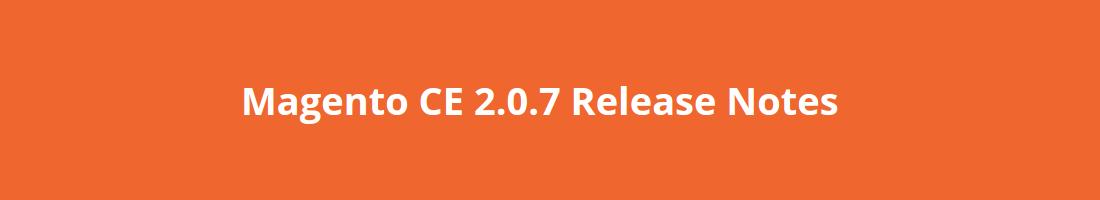 Magento2 2.0.7