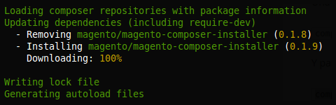 Actualización de magento-composer-installer