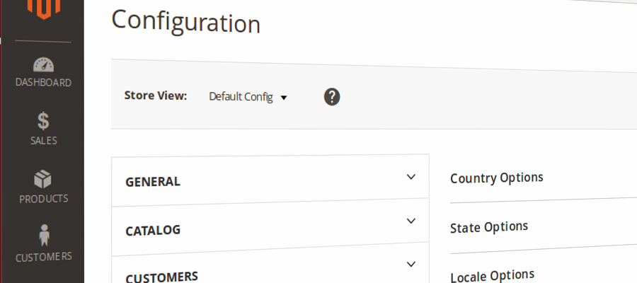 Configuración en Magento2