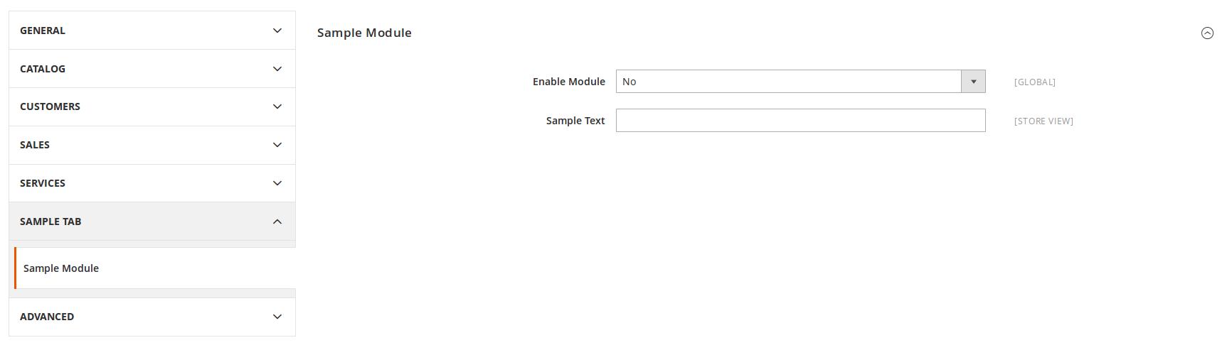 Configuración de Barbanet_SampleModule en Magento2
