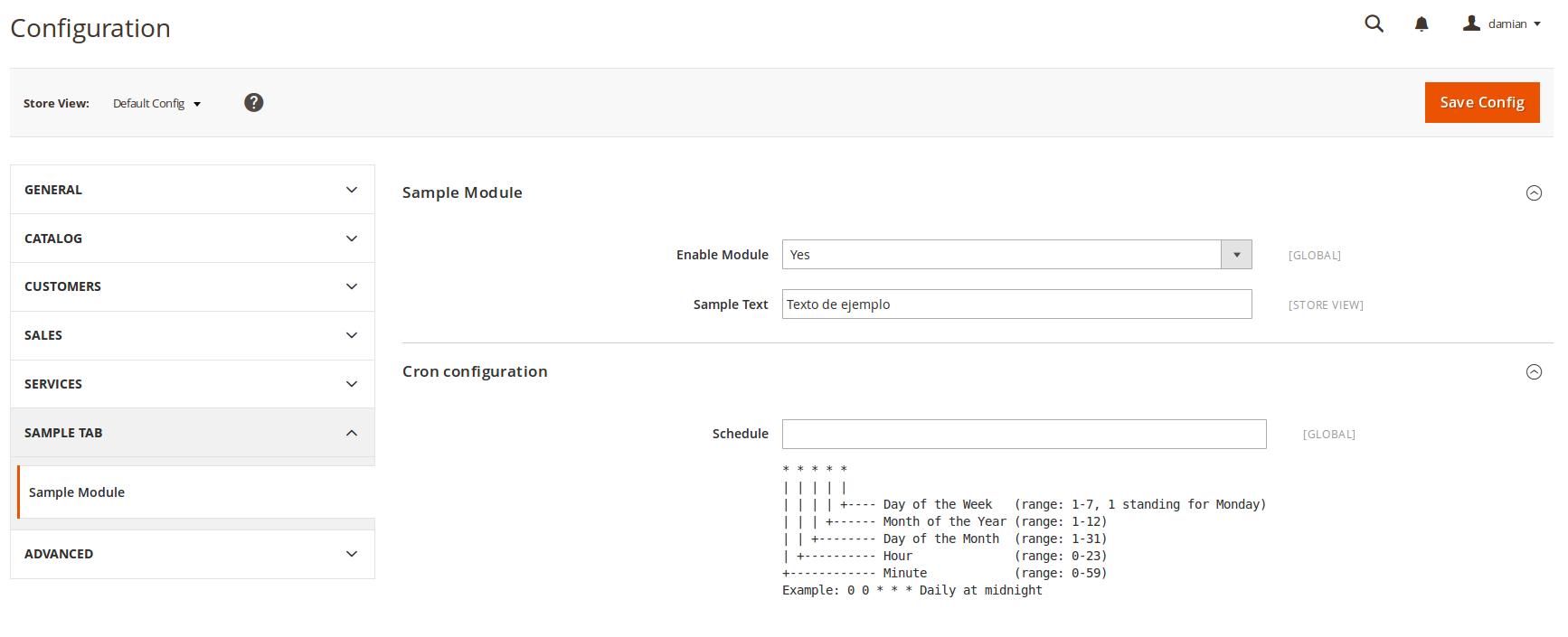 Configuración cronjobs en Magento2