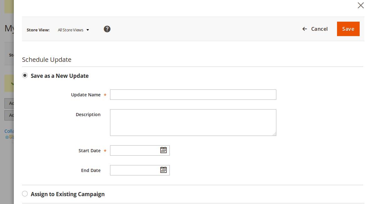 Configuración de cambios en Categoría en Magento2