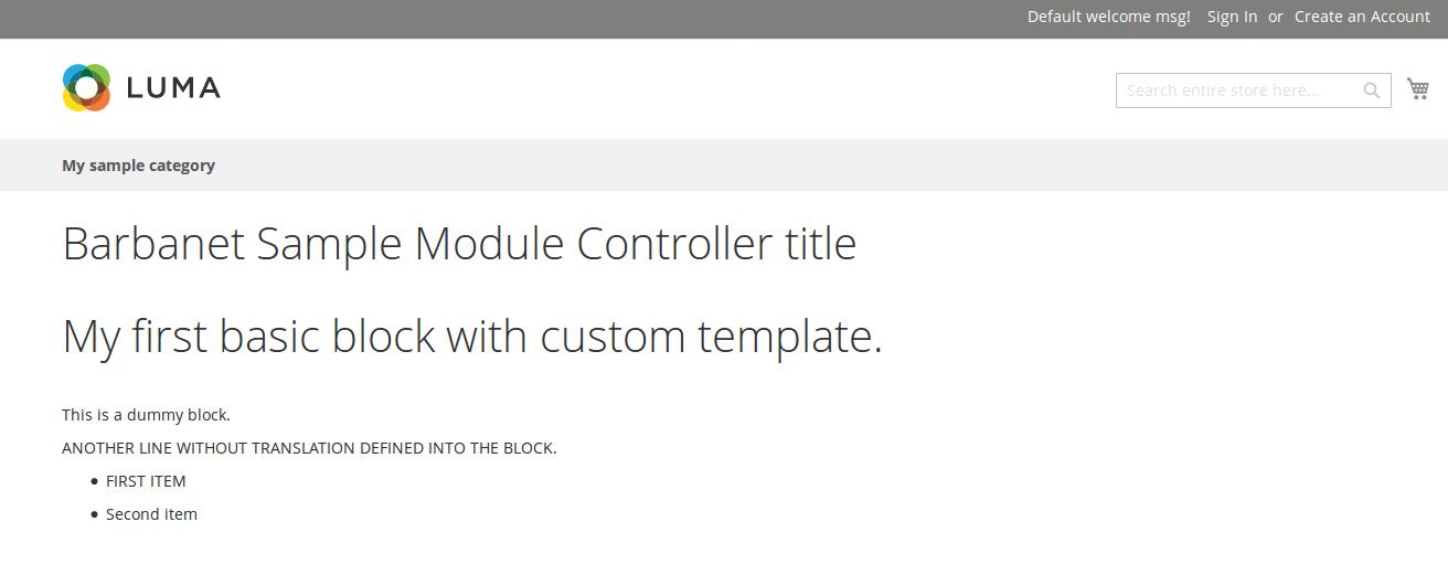 Controlador y Bloque custom de nuestro módulo