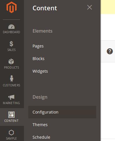 Configuración del diseño a utilizar