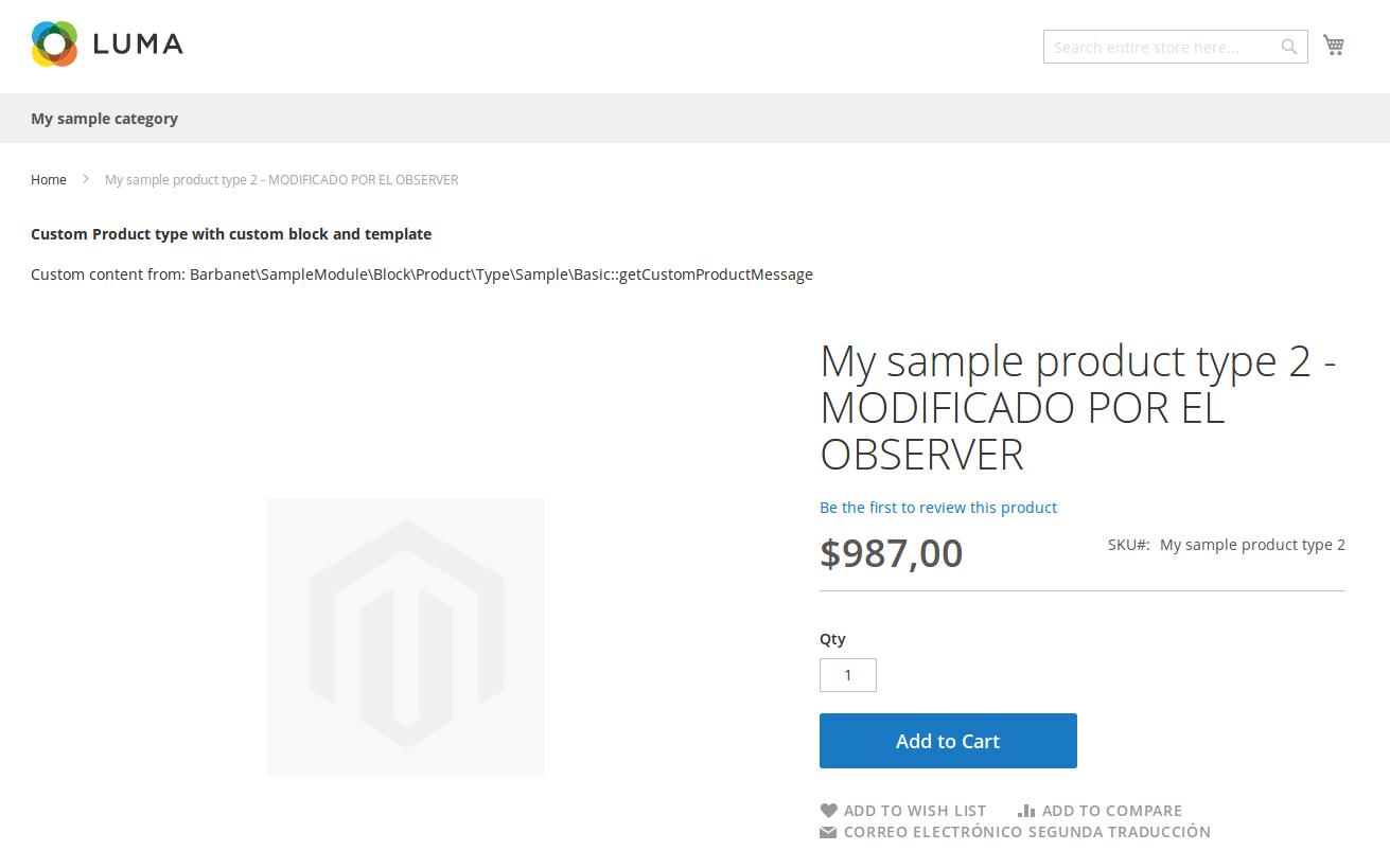 Vista de producto sample