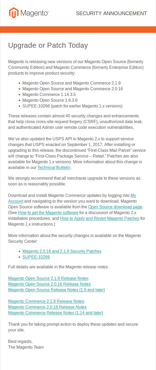 Anuncio definitivo del 14 de septiembre sobre las nuevas versiones