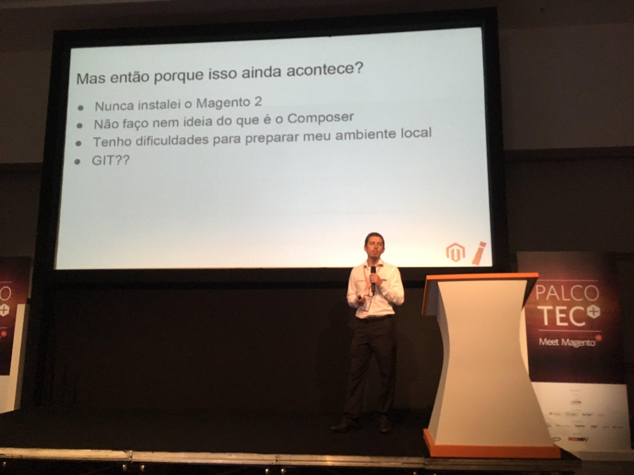 Rodrigo Mourão en el Meet Magento Brazil 2017