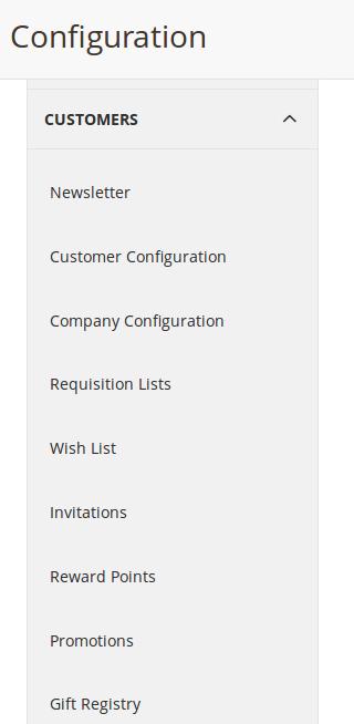 Opciones B2B para Customers