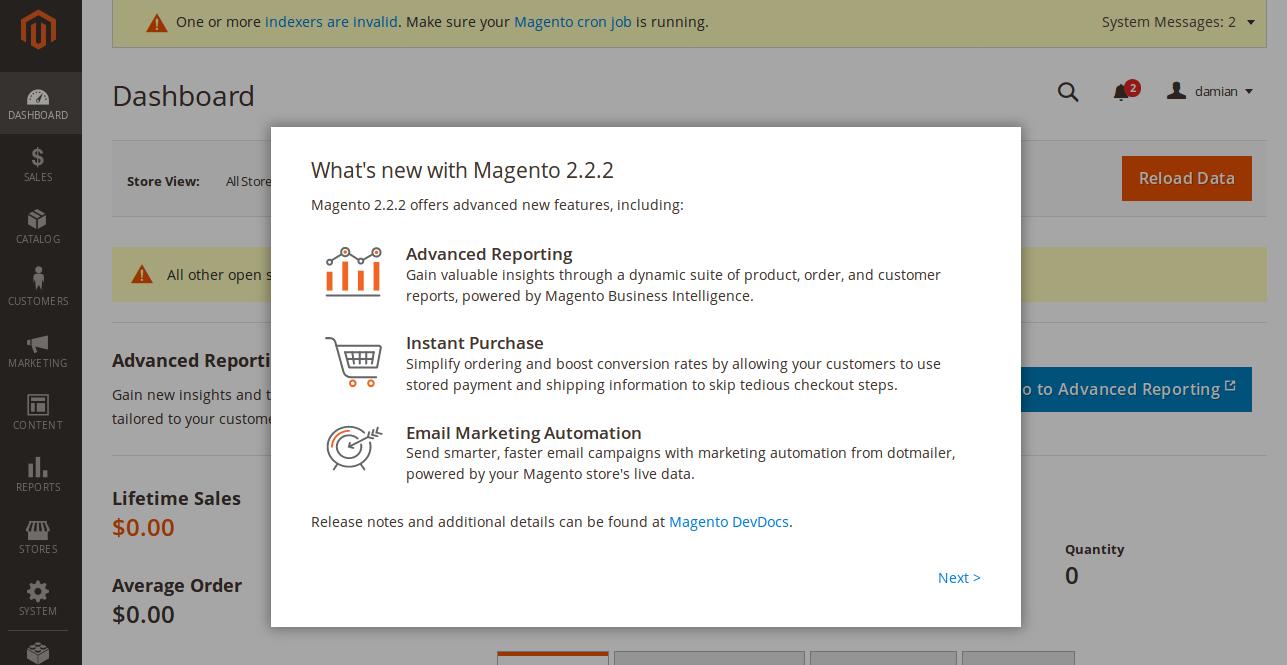 Novedades Magento 2.2.2