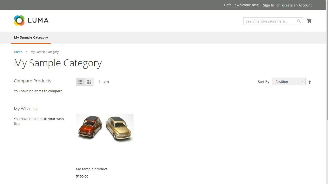 Vista de Categoría en Magento2 B2B sin Shared Catalogue
