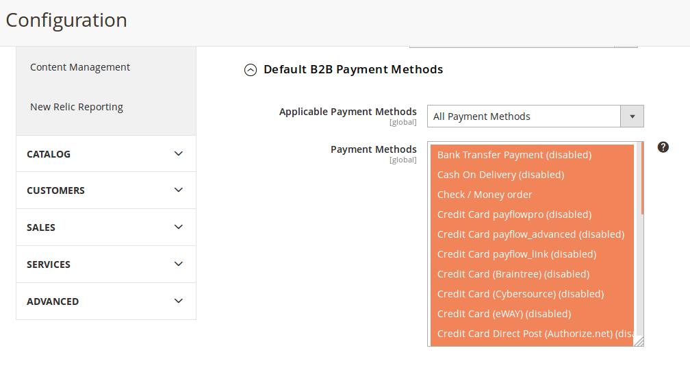 Opciones de pagos para B2B