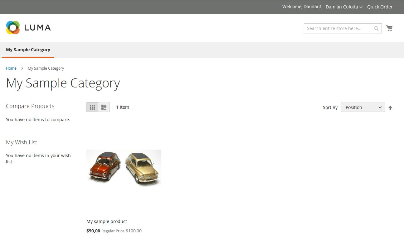 Catálogo B2B para usuarios registrados
