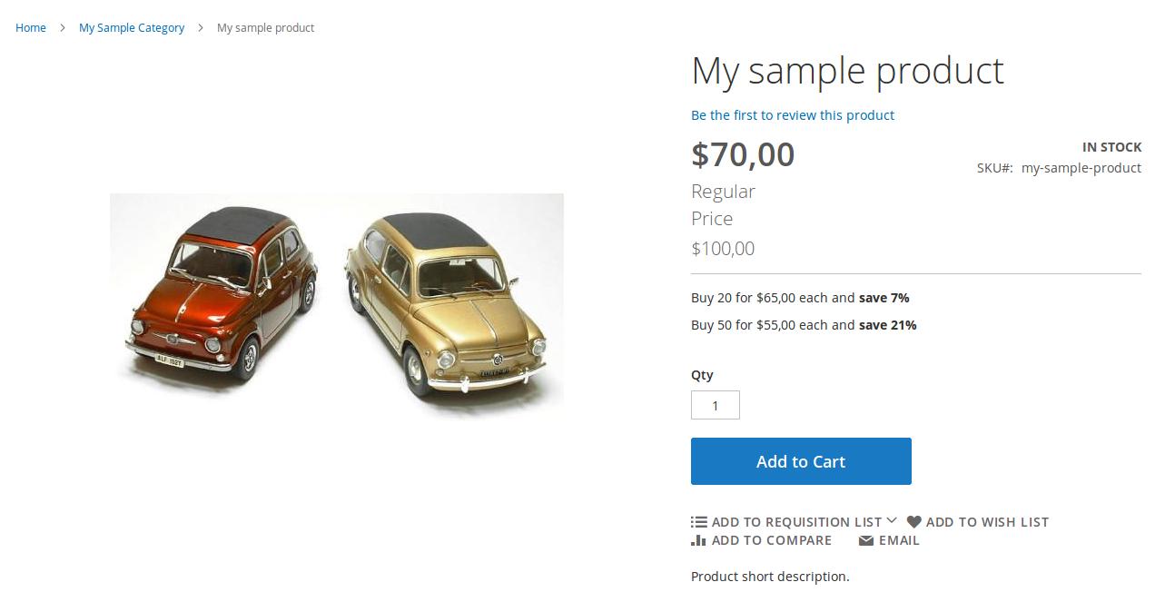 Vista de Categoría para un Shared Catalogue custom con B2B