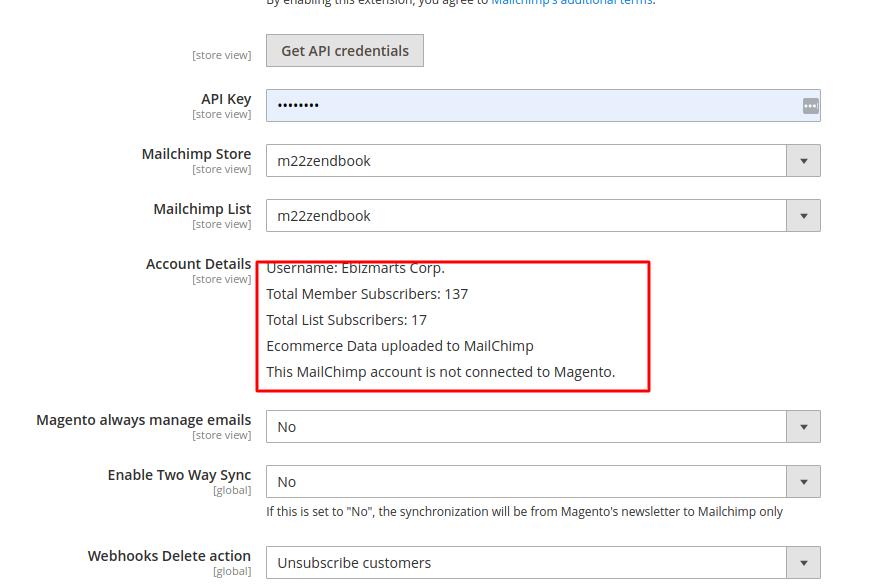 Usando Mailchimp en Magento2 (parte 1, la básica)   Damián